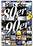 Hits de los 80 y 90 - 106 éxitos de dos décadas de música pop con melodía y números de acordes - Libro de canciones con púa Dunlop
