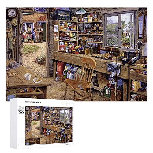 Yohoba Jigsaw Puzzle 1000 Piece Dad's Shed Large Puzzle Game Artwork for Adults Teens for Educational Gift Home Decor (20x30inch)