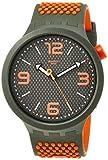 swatch orologio analogico quarzo uomo con cinturino in silicone so27m101