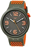 Swatch Reloj Analógico para Hombre de Cuarzo con Correa en Silicona SO27M101