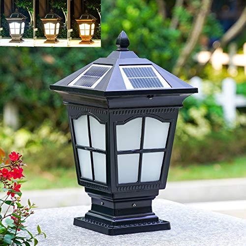 WRMING LED Solares Farolas Jardin para Exterior, Retro Luces de Poste Regulable,...