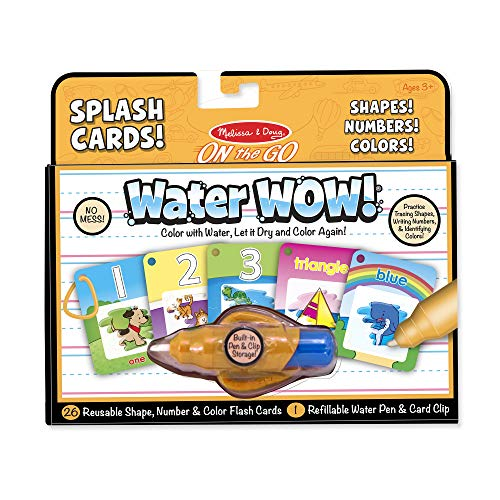 Melissa & Doug Water Wow! Splash Cards – Shapes, Numbers & Colors