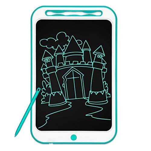 Richgv LCD Tablette D'écriture 12 Pouces, avec Verrouillage d'écran et Fonction réutilisable, Tablette de Dessin Portable,Dessin Convenant aux Enfants, à la Maison, à l'école (12 Pouces, Vert)