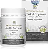 Y-Not Natural - 100% Pure Emu Oil Capsules 1000mg (100...