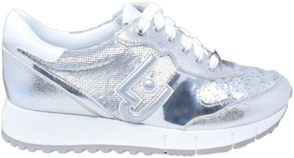 Liu-jo, running gigi 02 silver,scarpe sportive per donna,sneakers,in ecopelle B19019EX006.00532