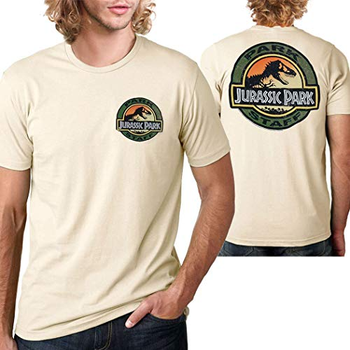 Jurassic Park Movie Park Staff T-Shirt-Medium Sand