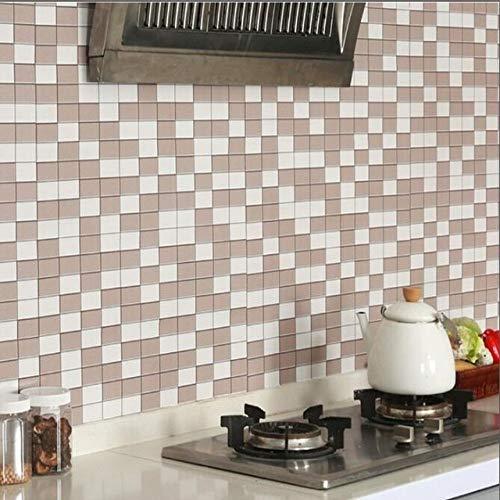 LZYMLG Küche Backsplash Fliesen Pvc Tapete Wohnkultur Selbstklebende Tapete Für Badezimmer Dekor Peel Stick Tapeten Kaffee