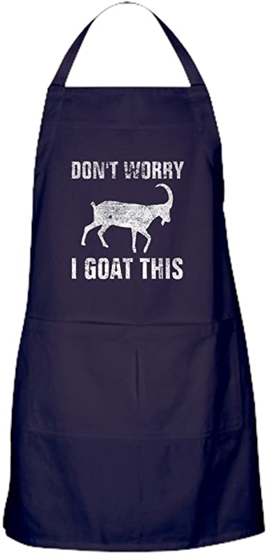 CafePress Don T Worry I Goat This Distressed Kitchen Apron With Pockets Grilling Apron Baking Apron