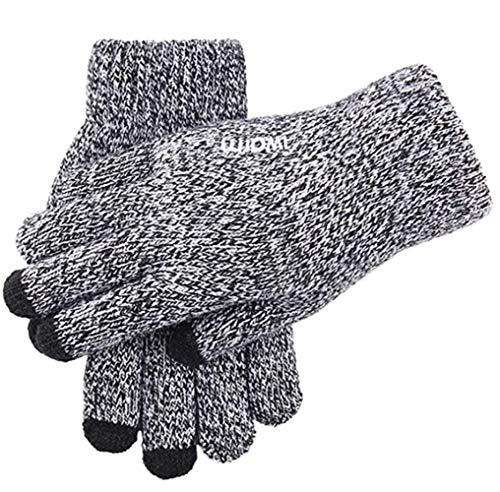 Guardnar Testhandschuhe für Herren und Damen, rutschfest, gestrickt, warm, Touchscreen-Handschuhe - Grau - Einheitsgröße