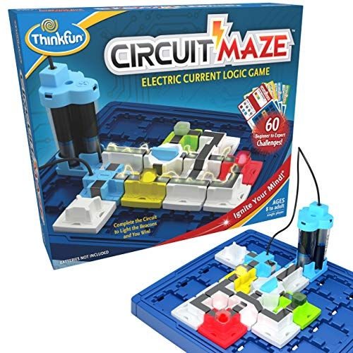 ThinkFun Circuit Maze Electric Current Brain Game and STEM Toy for Boys and Girls Age 8 and Up - Toy...