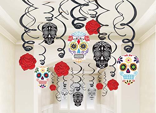 amscan Lot de décorations « Jour des Morts » 670360 International