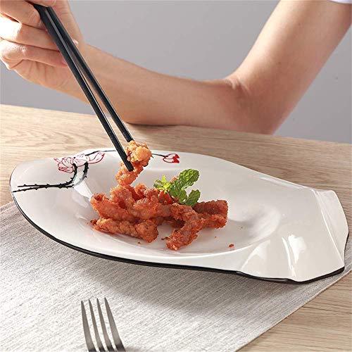 zdw Geschirr, Werkzeuge zum Essen Nordic Irregular Western Dish Merkmale Hotel Geschirr Bauerngeschirr Hotelbedarf Geschirr,12 Zoll