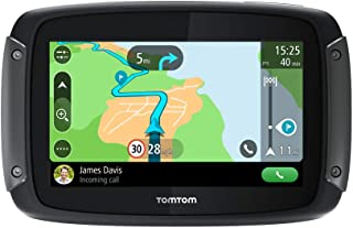 TomTom Motorcycle Sat Nav Rider 500, 4.3 Inch, with Motorcycle Specific Winding and Hilly Roads, Updates via Wi-Fi, Compatible with Siri and Google Now, Lifetime Traffic and Speed Cams, EU Maps