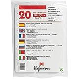 HOFMANN | 20 Hojas eslipin Blancas para álbum de Anillas