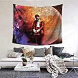 MAJJAKJH Decorative Tapestry Kid Cudi Art Wall Hanging Bedroom Living Room Dormitory TV Background Wall Blanket 60 X 51 inches