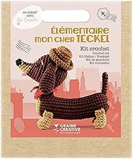 Graine Créative Coffret ma Peluche en Crochet Amigurumi - Teckel