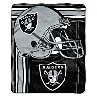 """The Northwest Company NFL unisex-adult Touchback Blanket 50"""" x 60"""", Team Color, Oakland Raiders"""