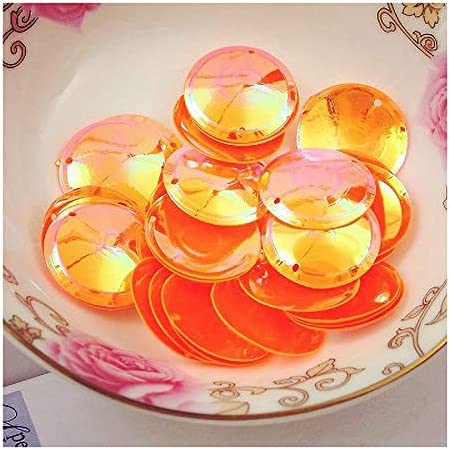 Popular popular WESET 100Pcs Pack Beautiful Shining Sequin Oval 20mm Cup Round S Albuquerque Mall