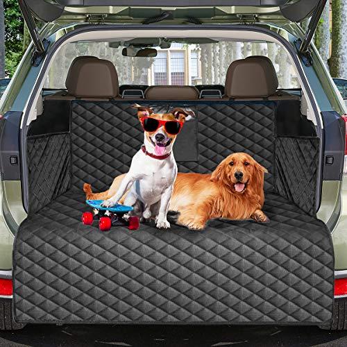 Protezione per baule per cani, tappetino per coprisedile per cani impermeabile per sedile posteriore con protezione per patta paraurti, copertura per sedile antiscivolo per cani 185 * 105 cm