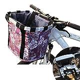 SHENGYI Canasta para Bicicleta con Soporte para Perros - Bolsa Plegable Extraíble para Bicicleta para Gato Y Mascota - Canasta Delantera para Bicicleta para Perro Canasta para Manillar De Bicicleta