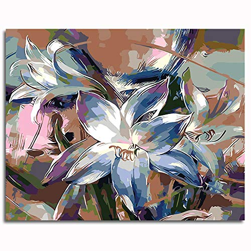 Pintar por números para Adultos y niños Kits de Regalo de Pintura al óleo DIY -Narciso Colorido 16 * 20 Inch