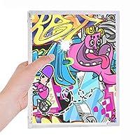 グラフィティストリートカルチャーのカラフルなモンスター 硬質プラスチックルーズリーフノートノート