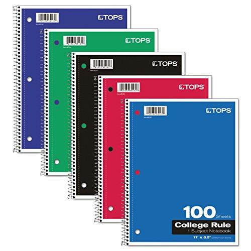 "Oxford 1-Assunt Notebook, 8-1/2"" x 11"", College Rule, 100 folhas (65161)"