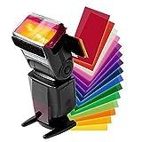 Vrttlkkfe 12 colores/Set Flash Speedlite Color Filtros Tarjetas para/Cámara Geles Fotográficos Filtro Flash Speedlight