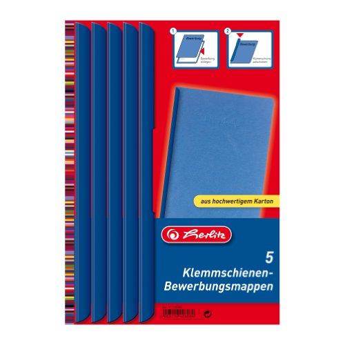 Herlitz 11110988 Klemmschienen-Bewerbungsset blau