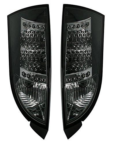 Lot de feux arrière LED en verre transparent noir.