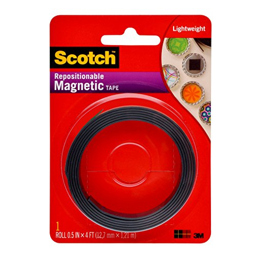 Scotch Magnetic Tape (MT004.5), 0.5-In x 4-Ft