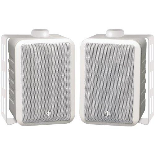 BIC America RTRV44-2W 3-Way Indoor/Outdoor Speakers (White)