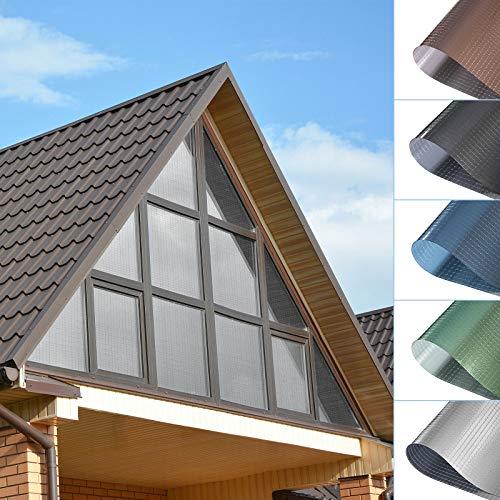 Sonnenschutzfolie Fensterfolie PVC-Spiegelfolie Ohne Klebstoff selbstklebende Hitzeschutzfolie UV-Schutzfolie Transparente Folie Kratzfest Sichtschutzfolie für Fenster Balkonfenster 75x300CM--Silber