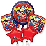 DC Super Hero Girls Birthday Balloon Bouquet - Wonder Woman, Bat Girl, Super Girl