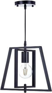 Top Lighting 1-Light Antique Black Metal Frame Chandelier Hanging Pendant Ceiling Lamp Fixture