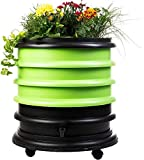 WormBox : Wurmkomposter Wurmfarm mit 3 Schalen Grün + Pflanzgefäß - 56 Liter