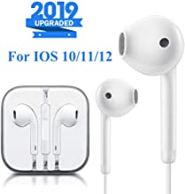 Lighting Connector Earbuds Earphone Wired Headphones with Microphone and Volume Control,Stereo Sound,Compatible with iPhone 11 Pro Max/Xs Max/XR/X/7/8 Plus Plug and Play Cell Phone Minutes