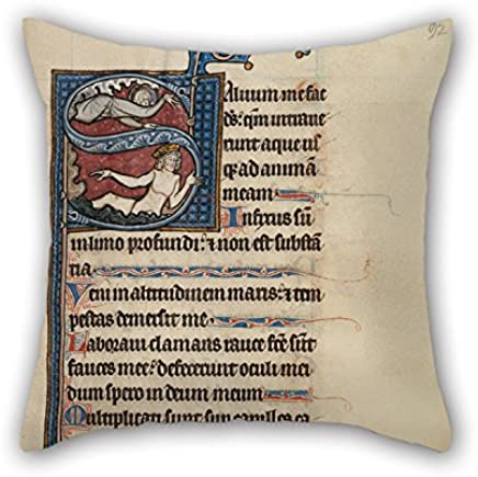 Throw Pillow Case Of Oil Painting Bute Master (Franco-Flemish, Active About 1260 - 1290) - Initial S- The Lord Appearing To David In The Water 18 X 18 Inches / 45 By 45 Cm Best Fit For Kids Room D