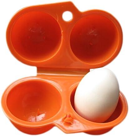 Preisvergleich für Leisial Eier Aufbewahrungsbox für 2 Eier Eierbox Eierbehälter Eierträger im Freien Orange