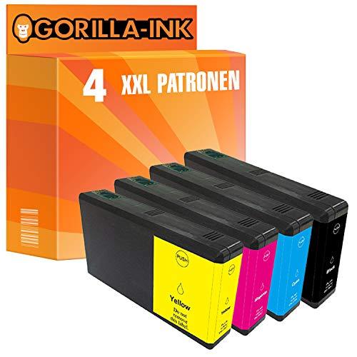 Gorilla-Ink 4 Cartucce d'inchiostro XXL compatibile con Epson T7901 T7902 T7903 T7904 79XL 79 XL | Per WorkForce Pro WF-5110 WF-5190 DW WF-5620 WF-5690 DWF WF-5110DW WF-5190DW WF-5620DWF WF-5690DWF