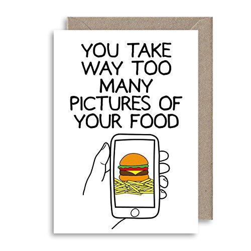 Lustige Lebensmittelbilder-Karte – Instagram Facebook-Grußkarte – Jahrestagskarte – Freundschaftskarte – Alternative Geburtstagskarte – Humor Grußkarte