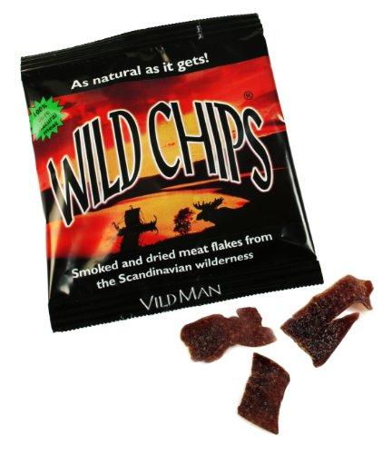 Wild Mans Schwedische Wildchips 40g (getrockneter Wildfleisch Snack)
