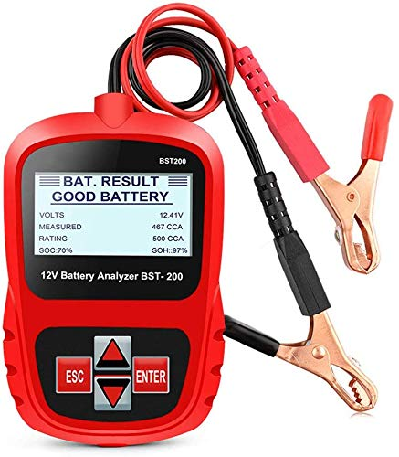 12V Auto Batterietester, 100-1100 CCA Auto-Batterie Zustand Starten & Ladesystem Testgerät, Batterietester-Kfz Autobatterie-Tester, Digital Analyzer Batteriezustand Test-Tool Für Auto,Boot,Motorrad