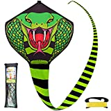 JOYIN Cobra Kite Easy to Fly Huge Snake Kite for Kids and Adults with Super Long Tail and Kite String, Large Beach Kite for Outdoor Games and Activities