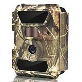 WingHome Wildkamera Fotofalle Full HD 12MP 1080P Überwachungskamera No Glow 20M Nachtsichtkamera mit Bewegungsmelder mit 2.4' LCD Display wasserdichte Jagdkamera weitwinkel für Sicherheitsüberwachung