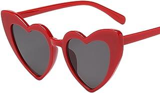 Topgrowth Donna Retro Moda Sfumature a Forma di Cuore Occhiali da Sole Occhiali UV Integrati Sunglasses