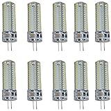 Aoxdi 10X 7W G4 LED Lampadina, Bianco Fredda,104 SMD 3014 LEDs set di chip, Super Luminoso...