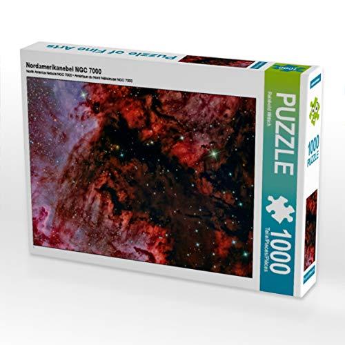 CALVENDO Puzzle Nordamerikanebel NGC 7000 1000 Teile Lege-Größe 64 x 48 cm Foto-Puzzle Bild von Reinhold Wittich