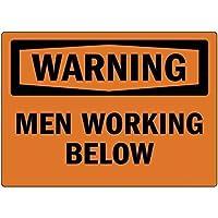 家の装飾のサインインチ、下で働く警告の男性、私有財産のための警告のサイン金属屋外の危険のサインブリキの肉のサインアートヴィンテージプラークキッチンホームバーの壁の装飾
