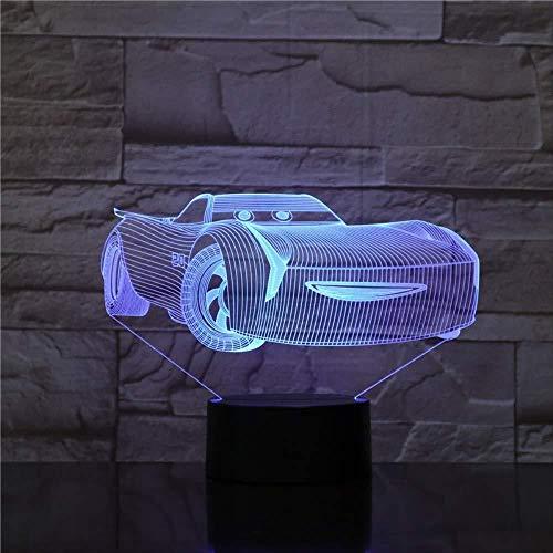 Luz nocturna 3D 7 luz nocturna LED que cambia de color Jurásico creativo modelado de dinosaurios 3D atmósfera lámpara de mesa decoración iluminación regalos para niños